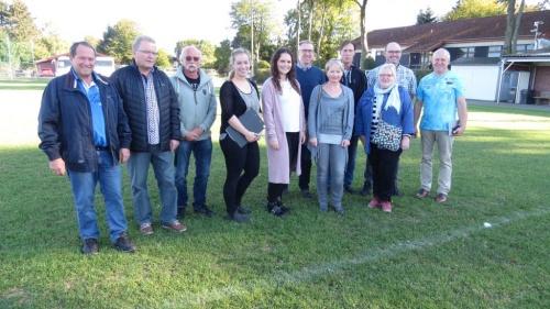 Sportplatzkommission in Huppenbroich begeistert